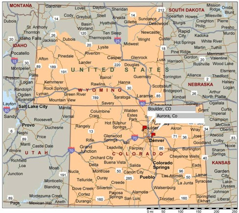Map Of Wyoming And Colorado Amazing Colorado Wyoming Map Pictures   Printable Map   New  Map Of Wyoming And Colorado
