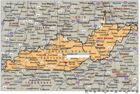 Map Ky Wv